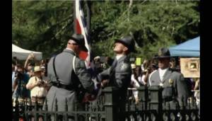 South Carolina state troopers lowered the confederate flag from its mast on the capitol grounds last Friday morning.