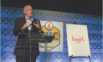 Mayor Tom Barrett expressed the need for job opportunities among city youth and applauded Potawatomi Hotel & Casino's partnership with Youth Works MKE. (Photo by Christopher Graham)