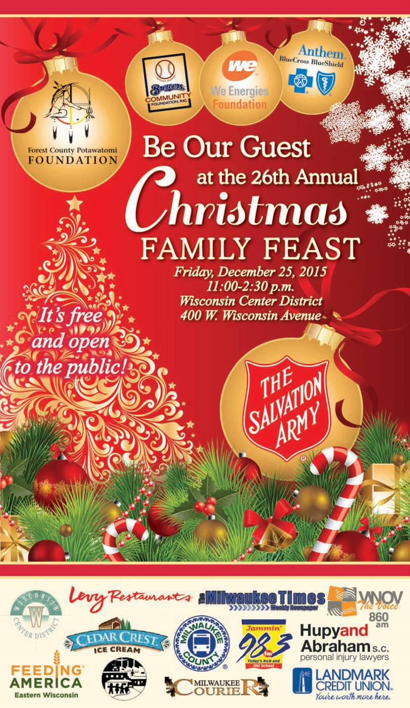 26th annual christmas family feast milwaukee courier