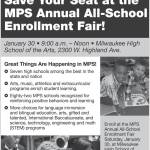 Save Your Seat at the MPS Annual All-School Enrollment Fair