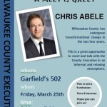 Meet & Greet With Chris Abele on March 25th