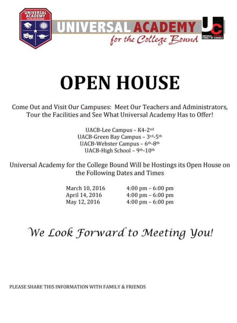 universal-academy-college-bound-open-house
