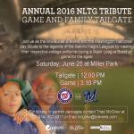 Annual 2016 NLTG Tribute Game and Family Tailgate