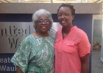Wanda Montgomery (left) and Tonda Thompson (right) work together to bring HaRUNbee to Milwaukee. Photo provided by United Way of Greater Milwaukee & Waukesha County