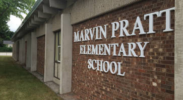 The Marvin Pratt Elementary School follows a year round schedule and has around 200 students. Photo by Dylan Deprey