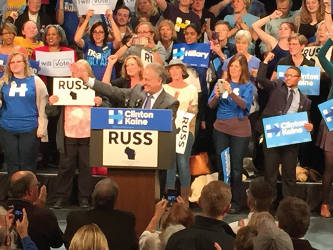 Russ Feingold is running for his previous position against incumbent Republican Sen. Ron Johnson. (photo by Dylan Deprey)