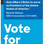 Vote For Hillary On November 8th