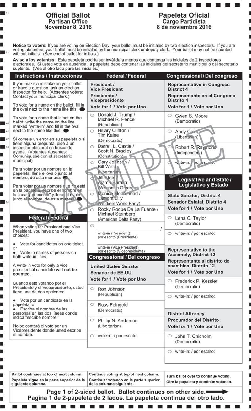 la sample ballots - Maddenrecall