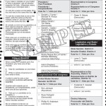 Notice of General Election and Sample Ballots November 8, 2016