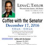 Coffee With The Senator Dec 17 & Jan 19