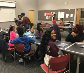 Girl Power mentoring session. (Photo courtesy of Project Hope Youth Program)