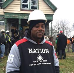 Darryl Ellis, participant of the Northcott construction program. (Photo by Karen Stokes)
