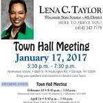 Upcoming 4th Senate District Town Hall Meetings with Lena Taylor