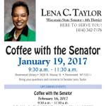 Coffee With The Senator on Jan 19 and Feb 16