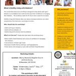 Healthy Living With Diabetes Workshops On Wednesdays April 5th thru May 17th