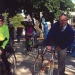 City Officials Strap on Helmets for Bike Week