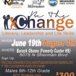 Common Council President Ashanti Hamilton and City of Milwaukee Office of Violence Prevention presents 2017-2018 Be The Change