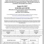Public Hearings on Proposed FTA Triennial Goal Setting on August 22nd