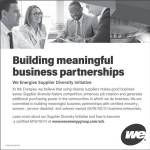 Building Meaningful Business Partnerships at WE Energies