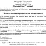MATC Requesting Proposals for Construction Management / Field Administration