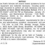 MPS Requesting Quotations for Piping Reinsulation at Dover Elementary School