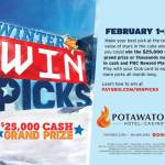 Win $25,000 Cash Playing Winter Win Picks During February at Potawatomi Hotel & Casino