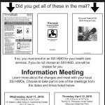 HMO Enrollment Changes for Medicaid members getting SSI – Information Meetings April 11 & 12