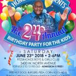 Homer Blow Presents The 24th Annual Birthday Party for The Kids on June 23rd