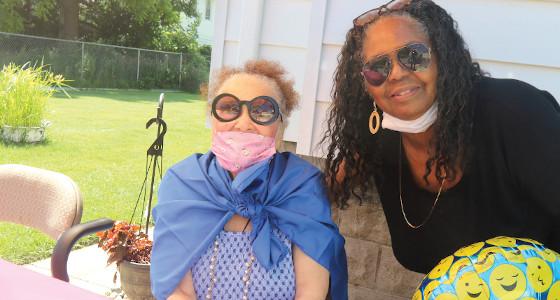Mrs. Vera LeBlanc celebrates her 98th birthday with parade
