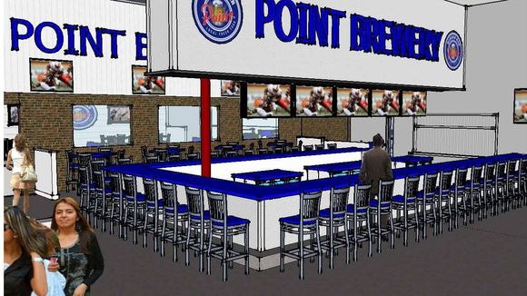 The new Point Burger Bar in the City of Pewaukee will include an area to view the electric-kart racing track next door. (Photo: Point Burger Bar rendering)