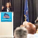 California Sen. Kamala Harris headlines campaign rally for Tammy Baldwin