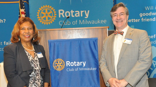 Rotary Club of Milwaukee hosts Dr. Eve Hall for Tuesday Speakers series