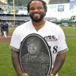 Milwaukee Brewers welcome back Prince Fielder with 'Wall of Honor' award