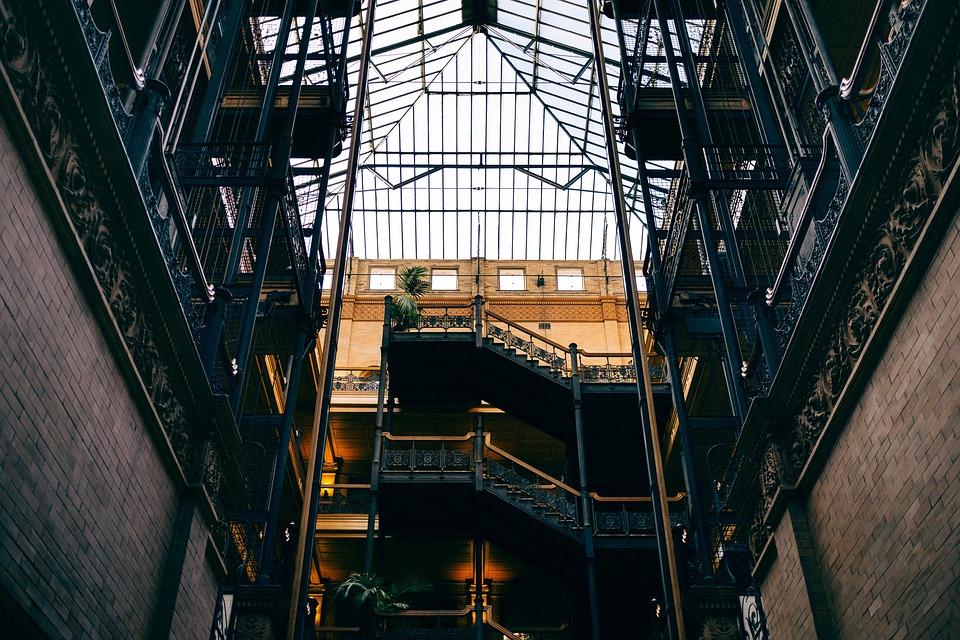 Brick Wall Building Architecture Bradbury Building