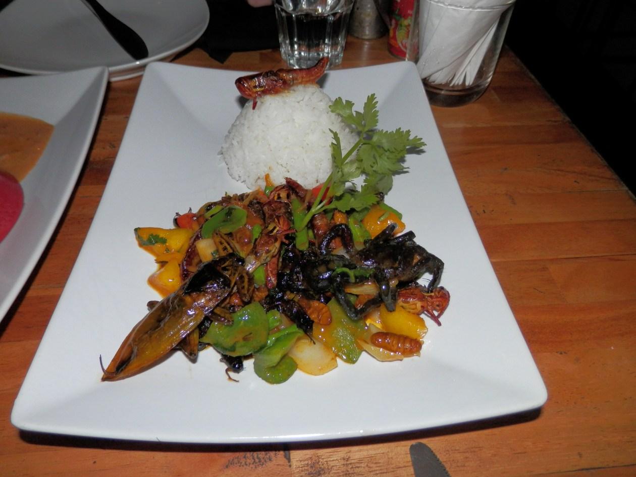 Comer insectos Camboya