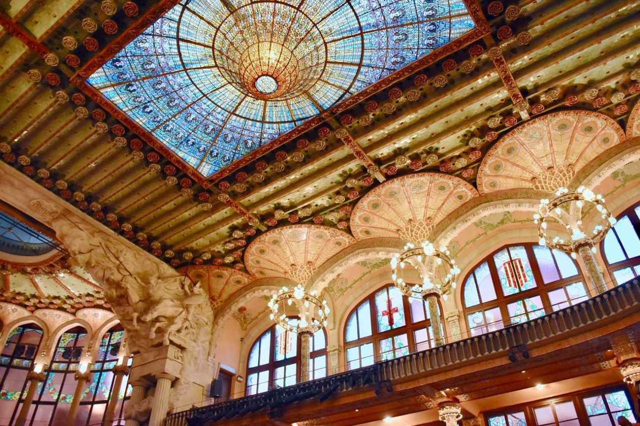 Palau de la Música Catalana y hospital de Sant Pau en Barcelona