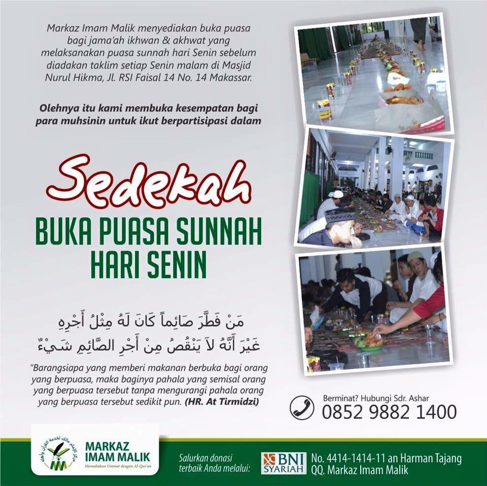 Sedekah Buka Puasa Sunnah