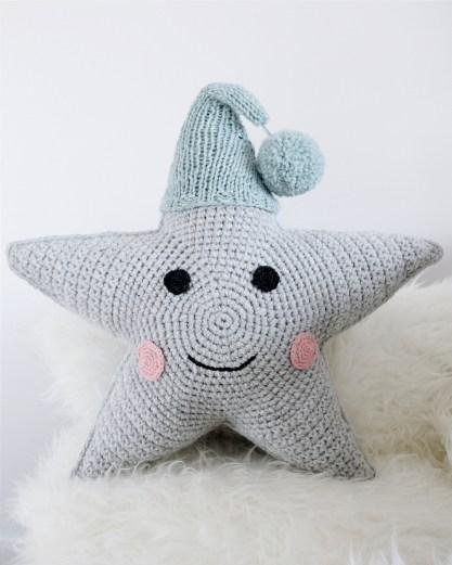 Kussen - ster met mutsje