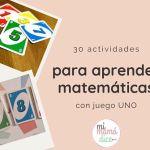 30 actividades para aprender matemáticas con juego UNO