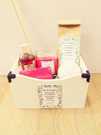 cesta de regalo kit aromático