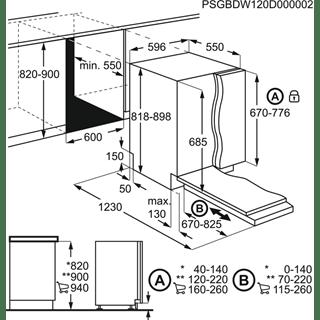 Electrolux EEC87300L Ugradna ComfortLift mašina za pranje sudova