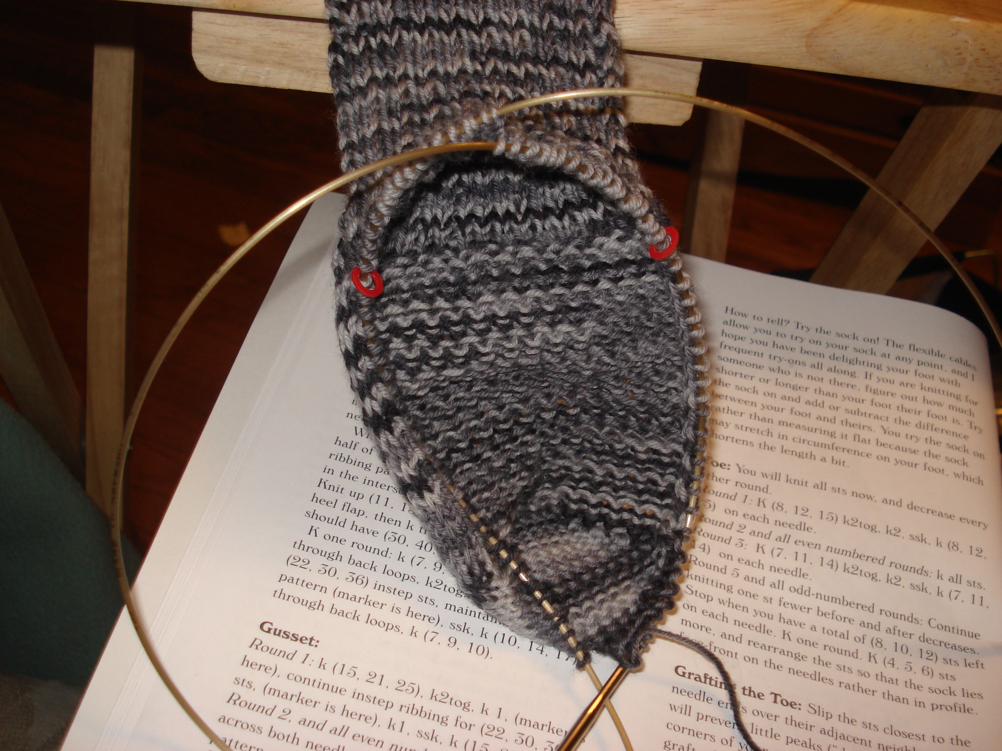 Gusset all knitted up