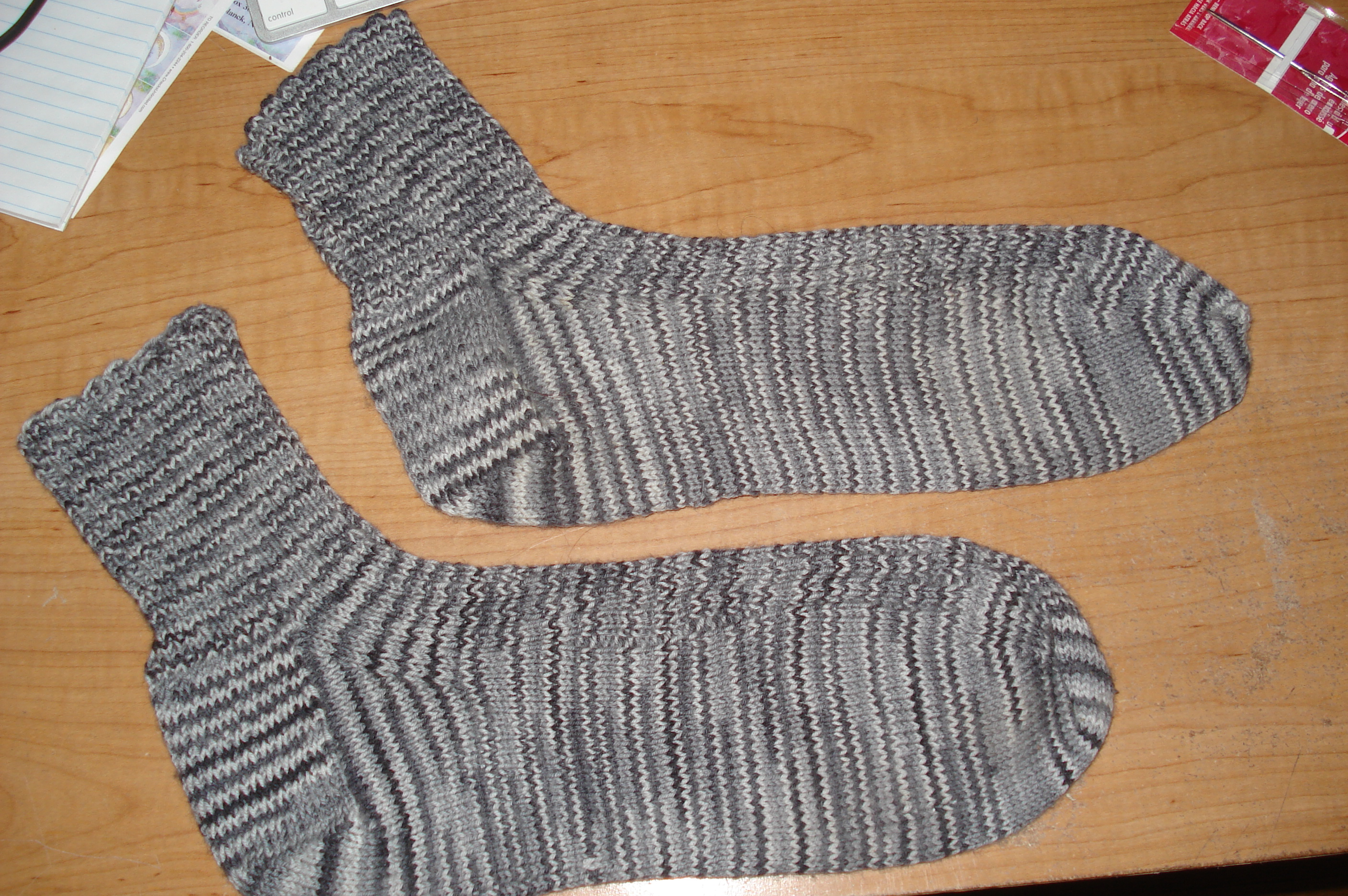 First pair of socks