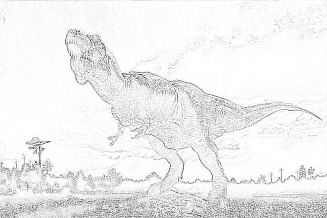 T-Rex coloring page - Mimi Panda