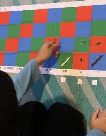 multiplication checkerboard en uso