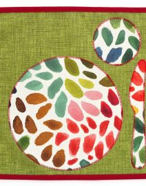 43 placemat green rainbowdrops