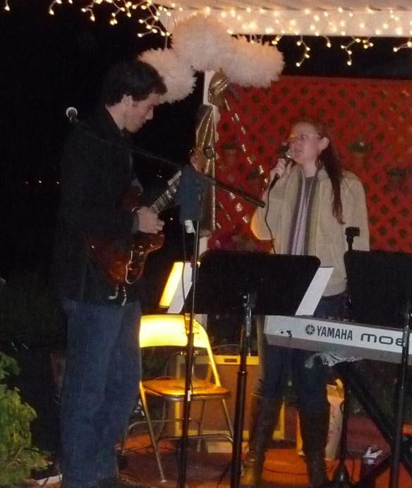 Rache and Nolan singing for the wedding