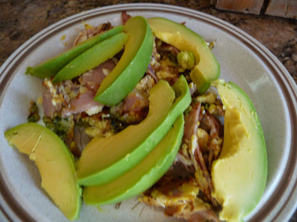 Spinach Artichoke Eggs with Avocado