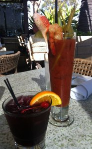 Bloody Mary and Sangria at C Level