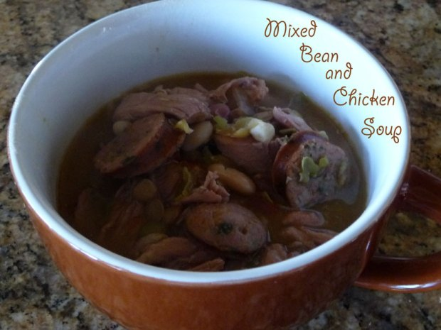 Mixed Bean and Chicken Soup